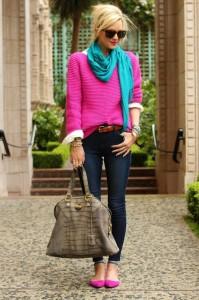 Comment porter la couleur bien habill e for Quelle couleur avec le fushia