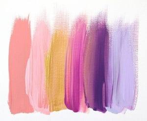 Nuances de couleurs chaudes