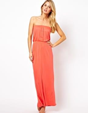 Maxi robe longue corail sur asos.com
