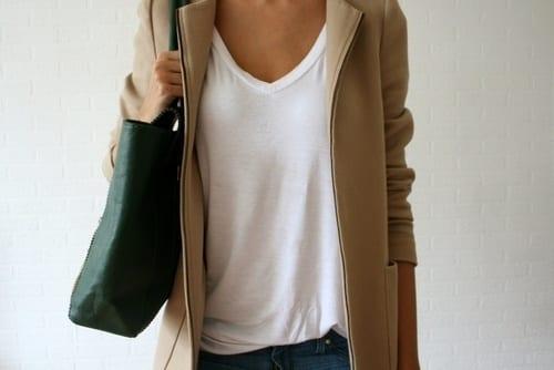 Comment porter le t shirt blanc bien habill e - Comment porter un trench femme ...