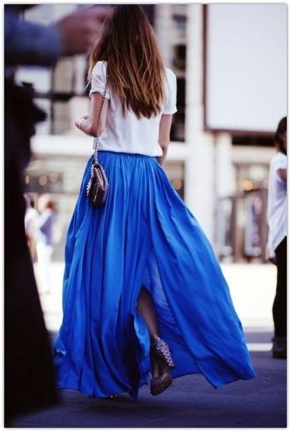 Comment porter la jupe longue?