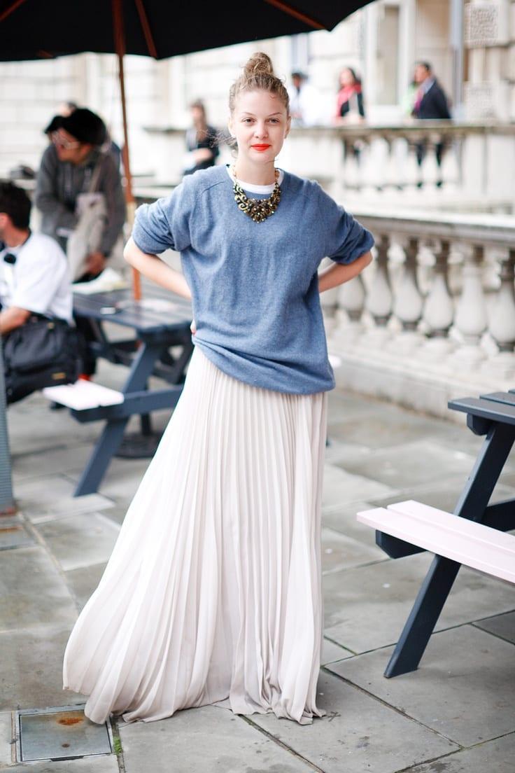 comment porter la jupe longue? - bien habillée