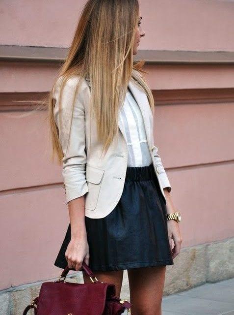 Que porter avec une jupe noire bien habill e - Quoi mettre dans une pinata ...