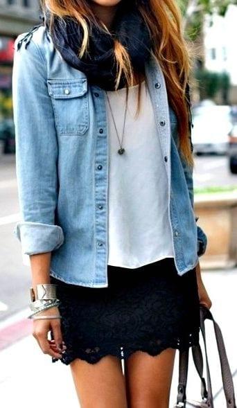 Que porter avec une jupe noire bien habill e for Que porter avec du gris