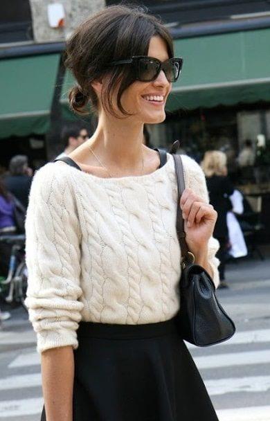 Que porter avec une jupe noire bien habill e - Que mettre avec un jean bleu ...