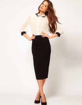 338b9146e859 Que porter avec une jupe noire  - Bien habillée