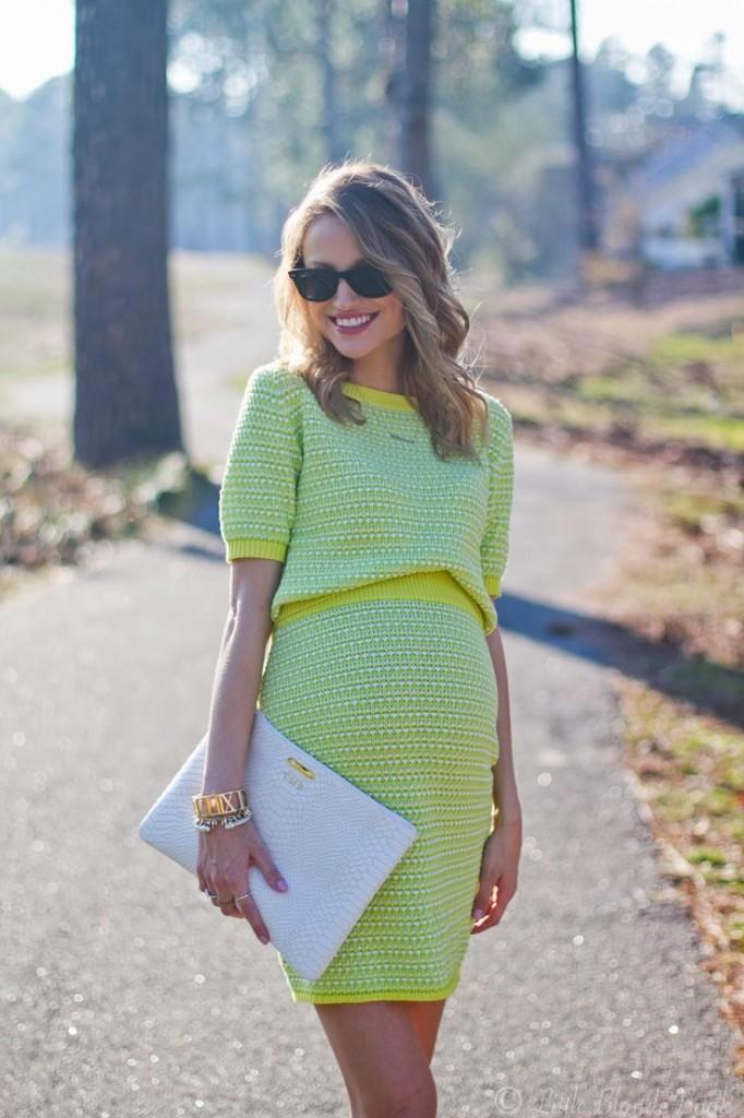 enceinte et bien habillée