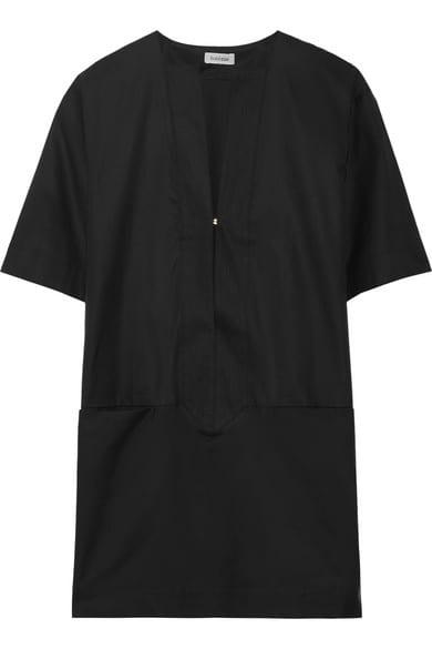 Petite robe noire et veste en jean