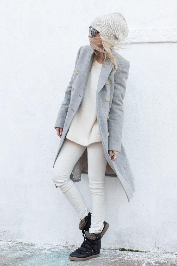 look-bonnet-manteau-gris