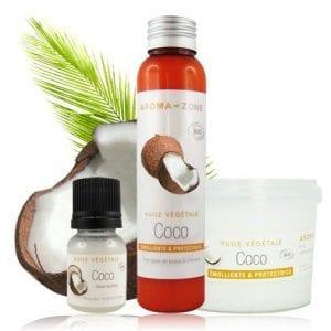 huile végétale coco soin cheveux beauté