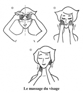 massage visage huile végétale routine beauté