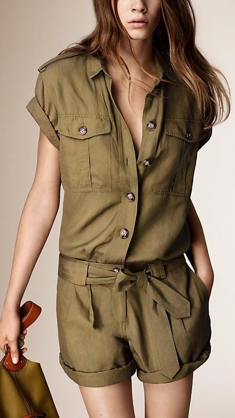 Short kaki militaire femme - Vetement fitness et mode 7cc06295d12