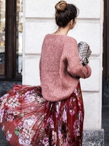 jupe-fleurs-pull-maille
