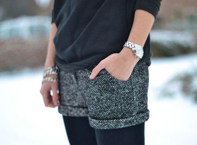 Comment porter le short en hiver ?