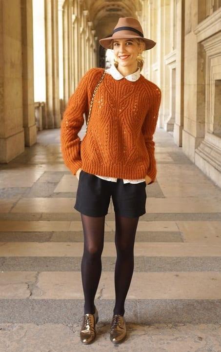 7f7423cb98a Comment porter le short en hiver   - Bien habillée