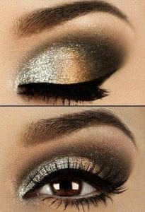 maquillage bronze yeux marrons