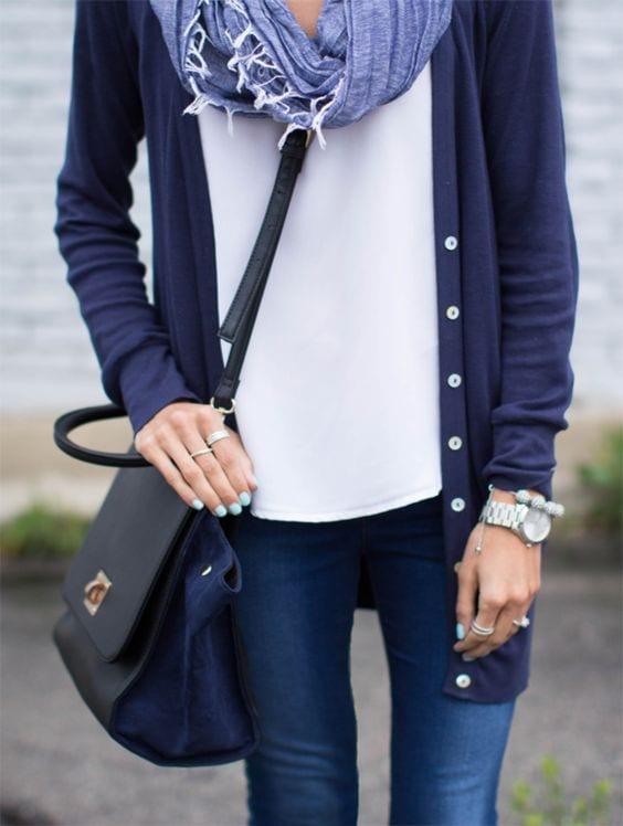 023c5cd6c4f Comment porter le bleu marine   - Bien habillée
