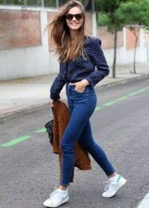 tenue jean et veste en peau