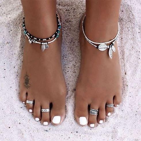 Bijoux de pieds et chevilles en argent